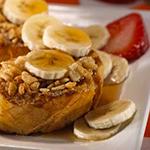 hearty morning breakfast with bananas